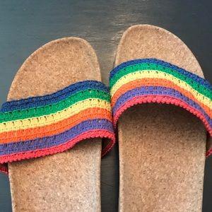 Multicolored sandals. Women's Size 11. Worn 2x. 🌈